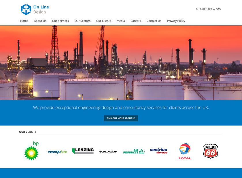 Line Design & Engineering Limited homepage screenshot