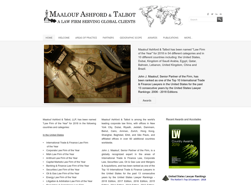 Maalouf Ashford & Talbot LLP homepage screenshot