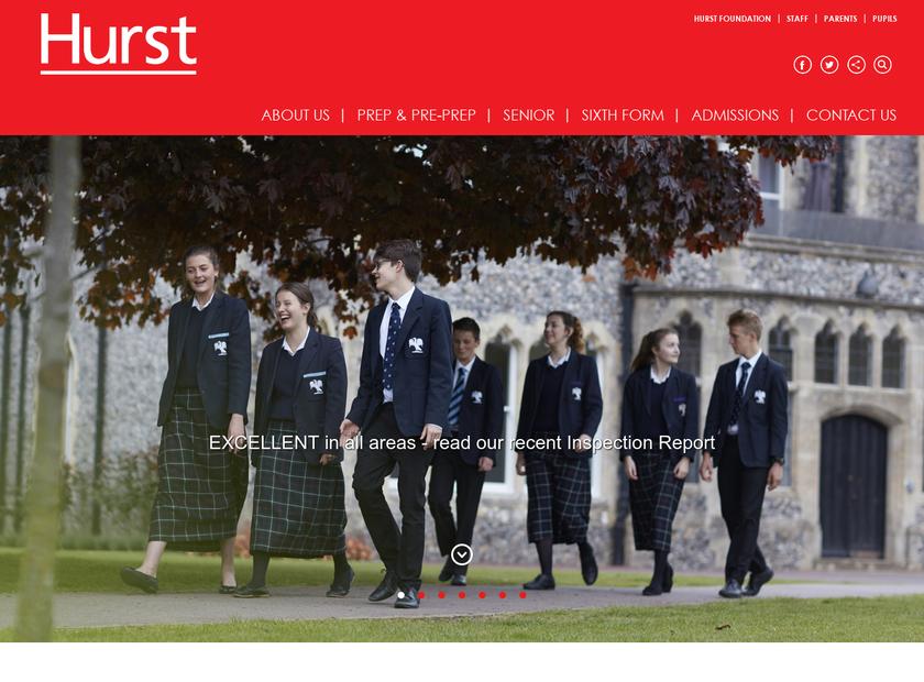 Hurstpierpoint College homepage screenshot