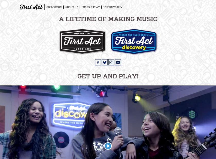 First Act Inc homepage screenshot