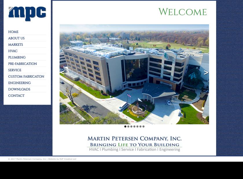 Martin Petersen Company Inc homepage screenshot