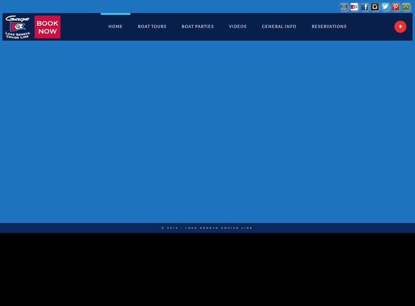 Lake Geneva Cruise Line homepage screenshot