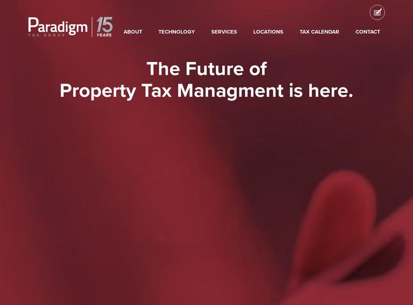 Paradigm Tax Group LLC homepage screenshot
