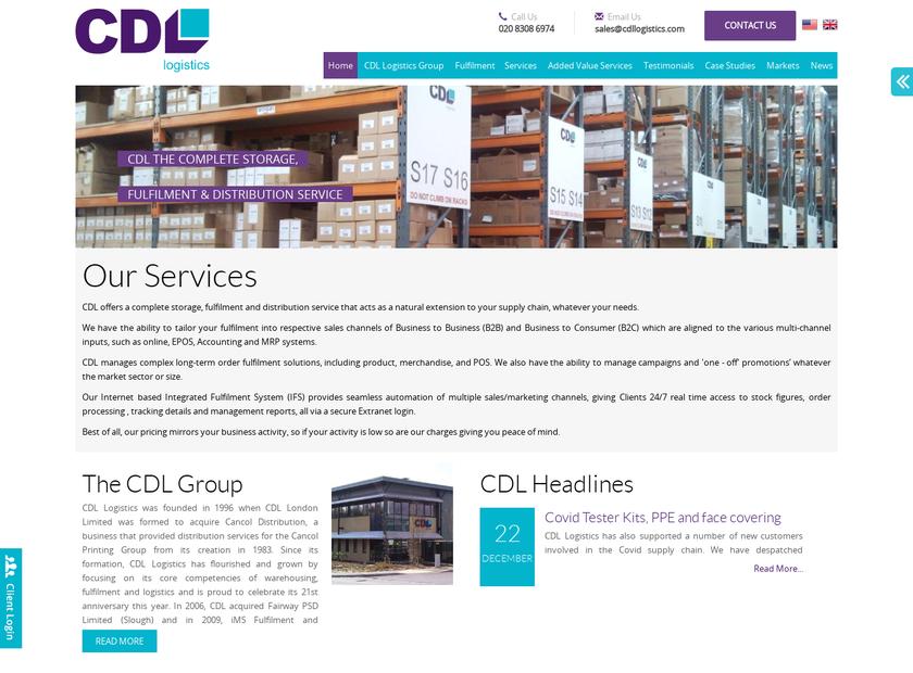 CDL Logistics homepage screenshot