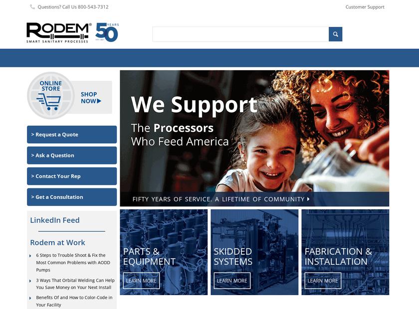 Rodem Inc homepage screenshot