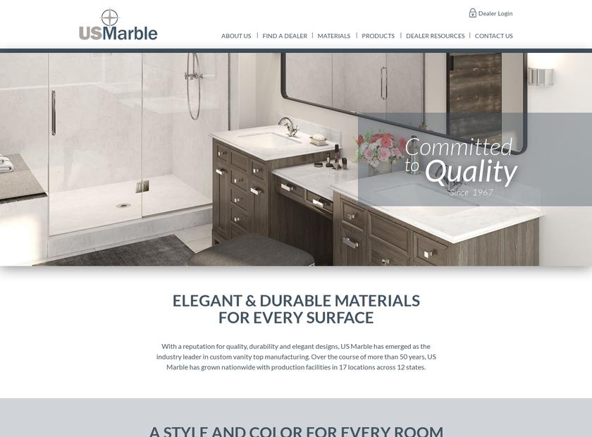US Marble Inc homepage screenshot