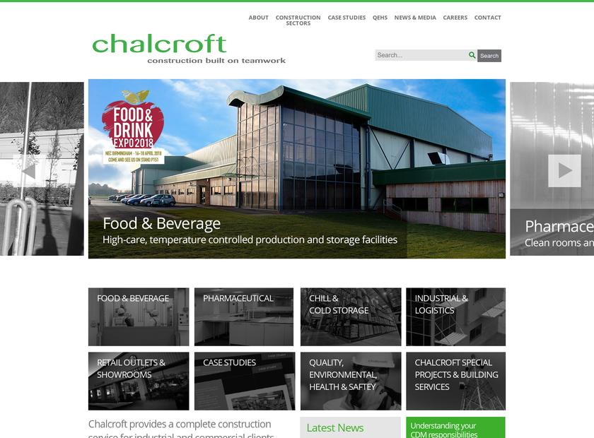 Chalcroft homepage screenshot