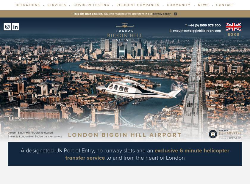 Biggin Hill Airport Ltd homepage screenshot