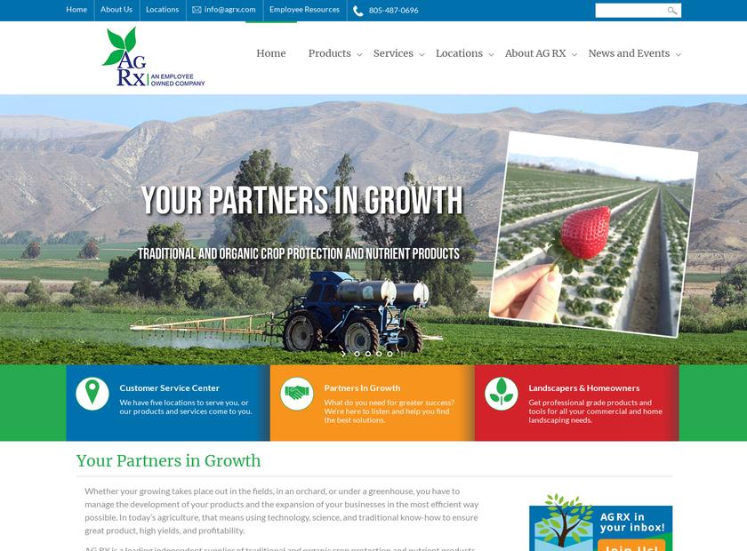 AG RX homepage screenshot