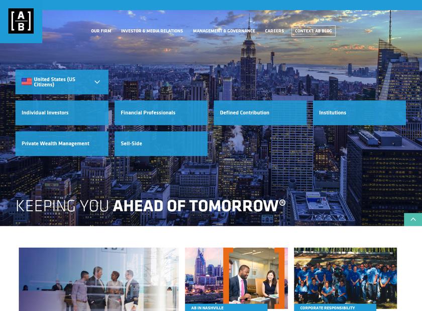 AB® homepage screenshot