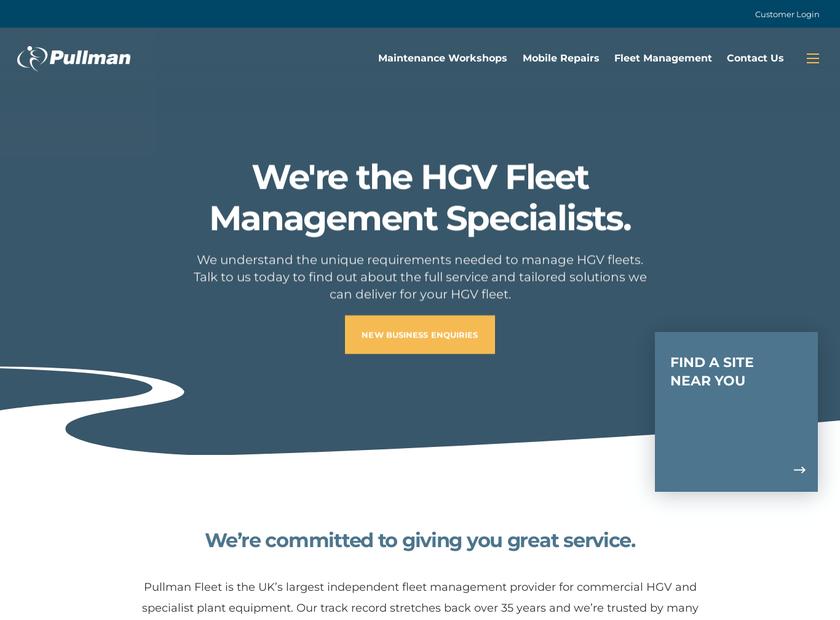 Pullman Fleet Services Limited homepage screenshot