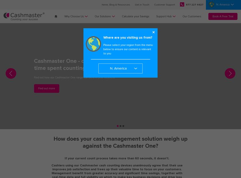 Cashmaster International Ltd homepage screenshot