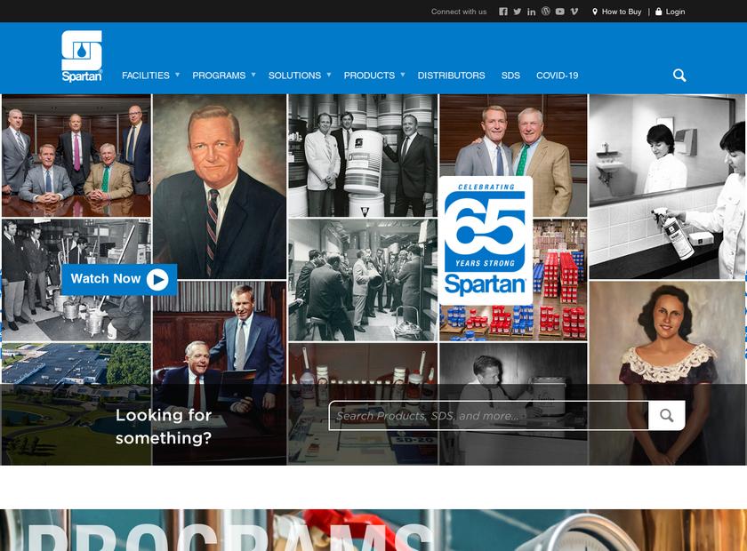 Spartan Chemical Company , Inc. homepage screenshot
