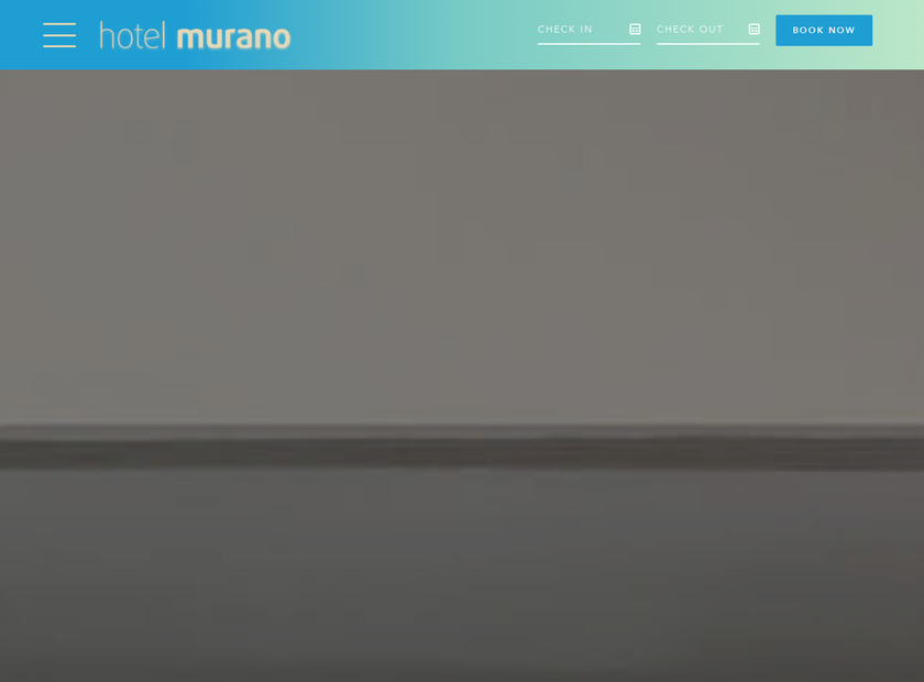 Hotel Murano homepage screenshot