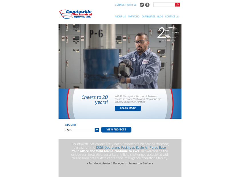 Countywide Mechanical Systems Inc homepage screenshot