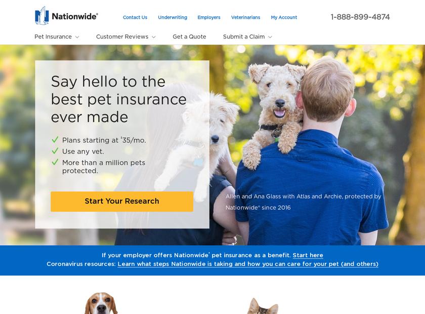 Nationwide homepage screenshot