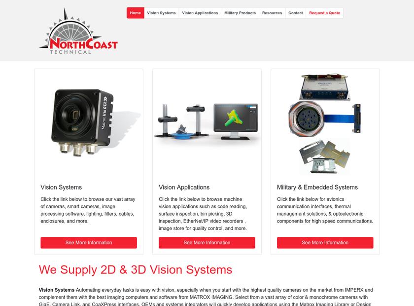 North Coast Technical Sales , Inc. homepage screenshot