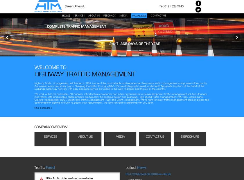 Highway Traffic Management Ltd homepage screenshot