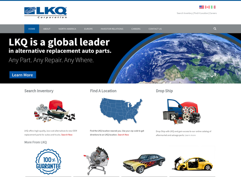 Keystone Automotive Industries Inc homepage screenshot