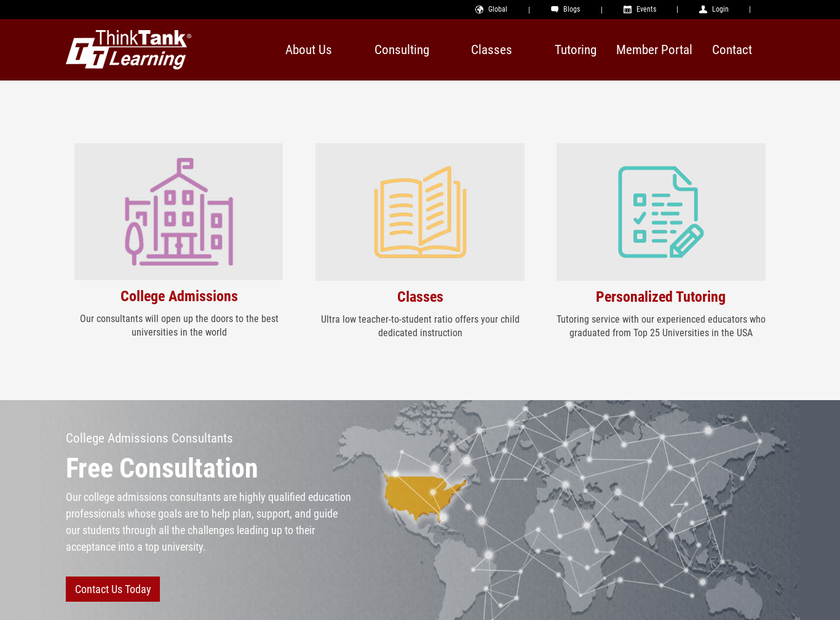 ThinkTank Learning Inc homepage screenshot