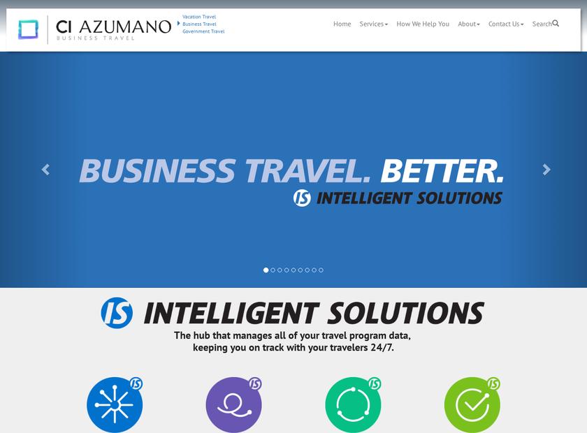 CI Azumano Travel homepage screenshot
