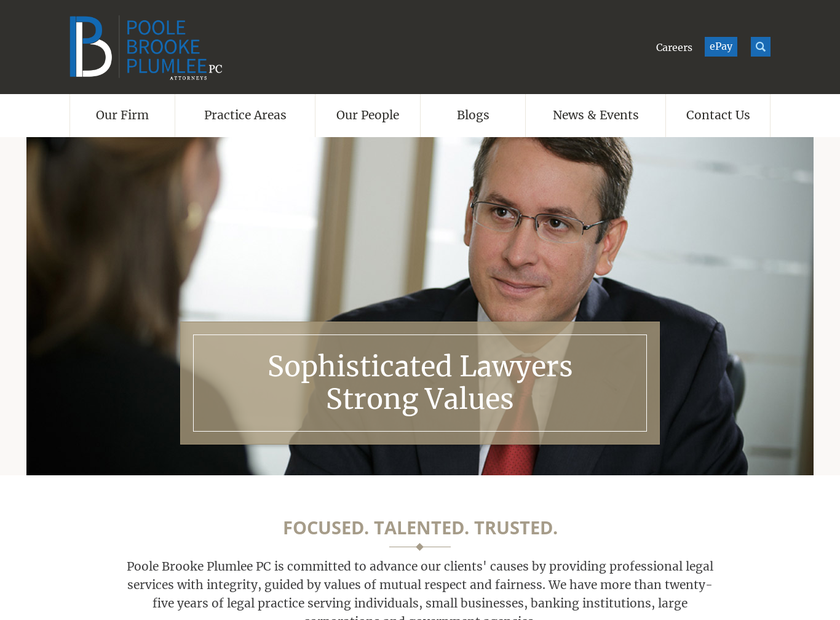 Huff , Poole & Mahoney , P.C. homepage screenshot