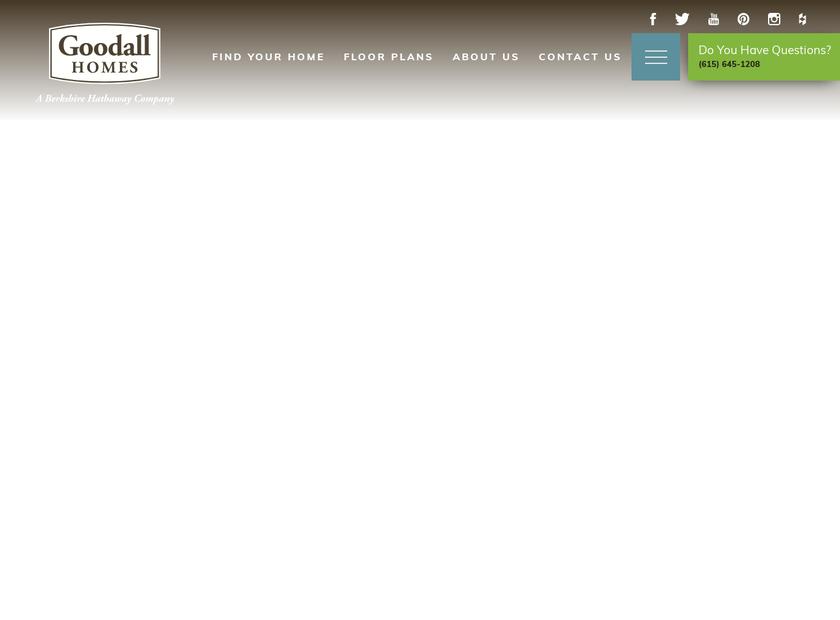 Goodall Homes homepage screenshot