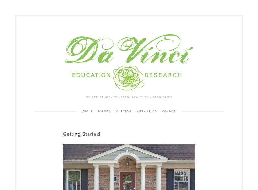 DaVinci Education and Research homepage screenshot