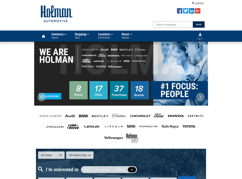 The Kuni Automotive Company homepage screenshot