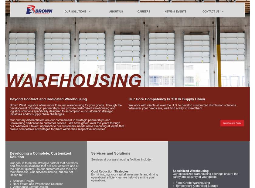 West Logistics Inc homepage screenshot
