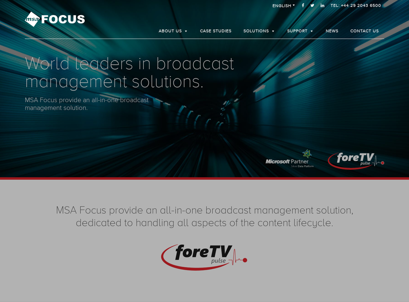 MSA Focus International Ltd homepage screenshot