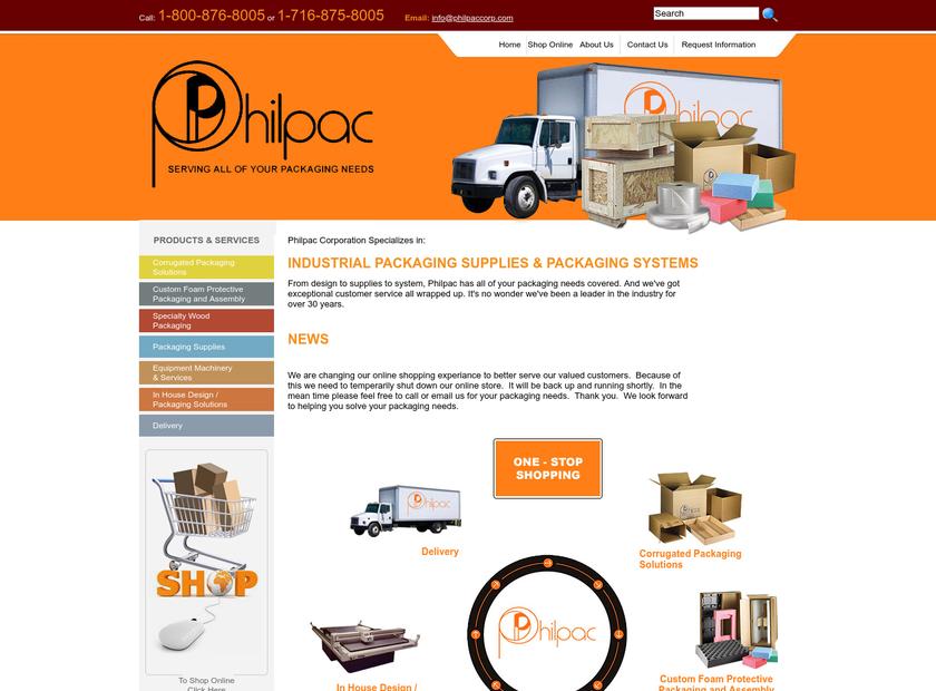 Philpac Corp homepage screenshot
