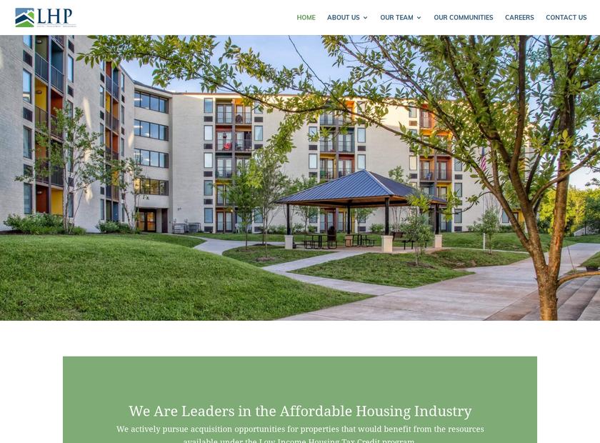 LHP Capital LLC homepage screenshot