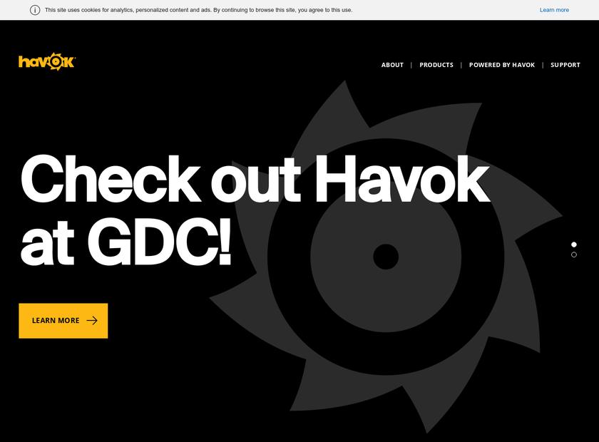 Havok.com Inc homepage screenshot
