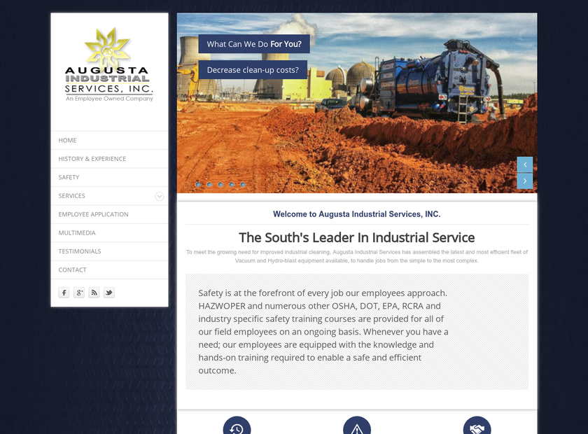 Augusta Industrial Services Inc homepage screenshot