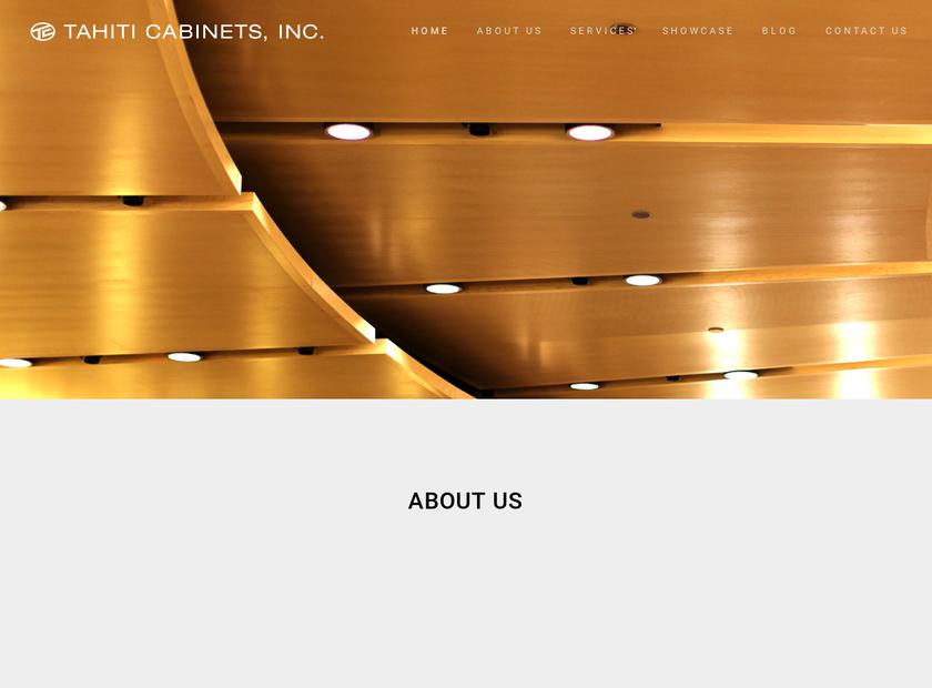 Tahiti Cabinets Inc. homepage screenshot