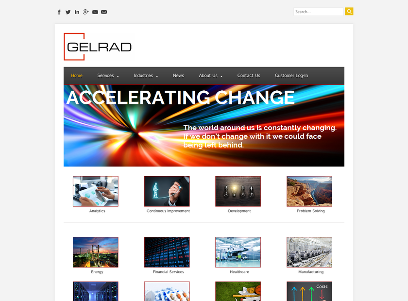 GELRAD LLC homepage screenshot