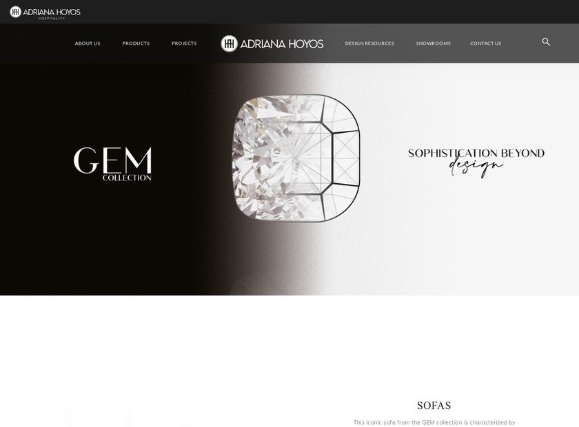 ADRIANA HOYOS homepage screenshot