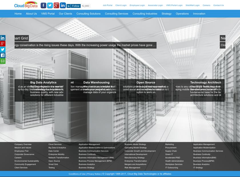 CloudBig D homepage screenshot