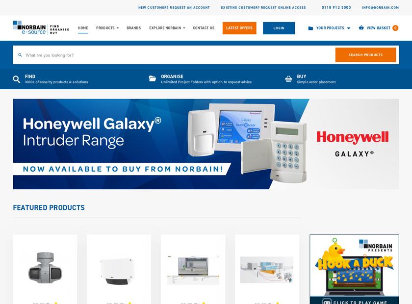 Norbain SD Ltd homepage screenshot