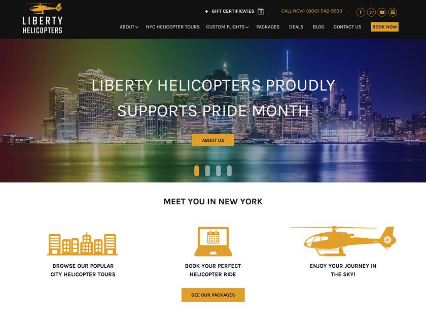 Liberty Helicopters Inc homepage screenshot