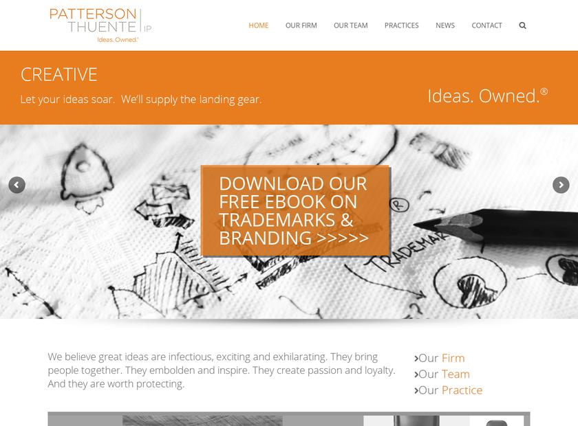 Patterson , Thuente , Skaar & Christensen , P.A. homepage screenshot