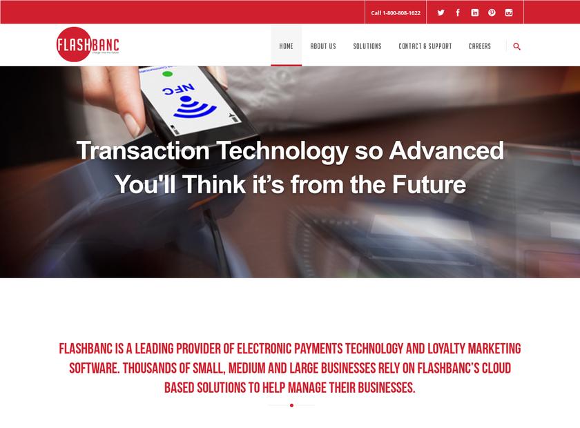 FlashBanc LLC homepage screenshot