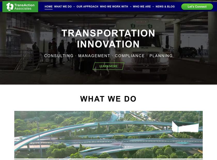 TransAction Associates Inc homepage screenshot