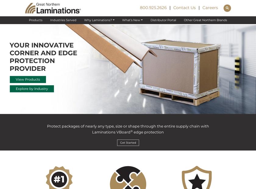 Laminations homepage screenshot
