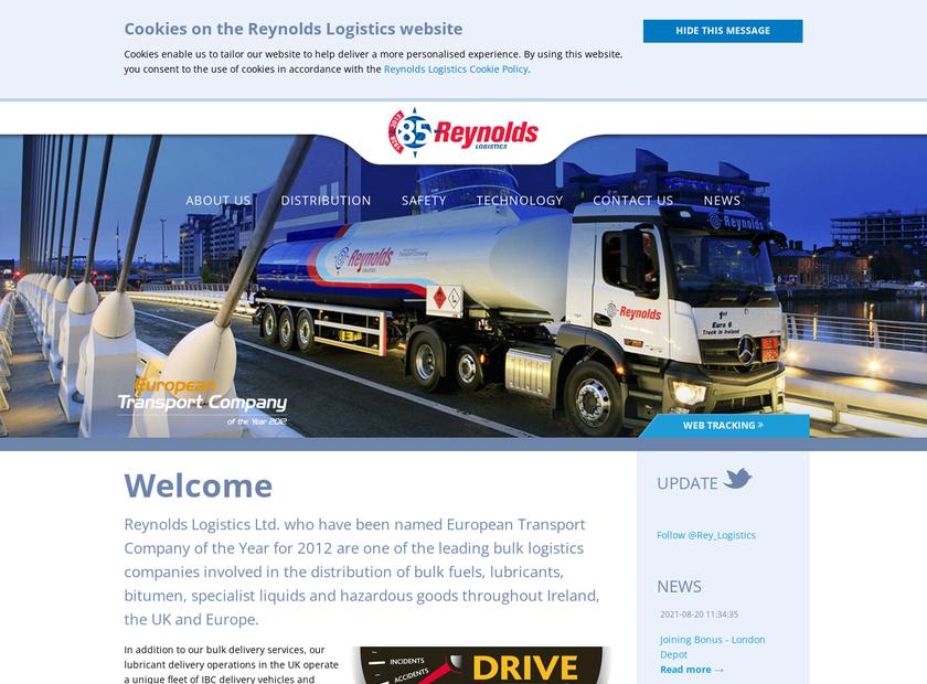 Reynolds Logistics Ltd homepage screenshot