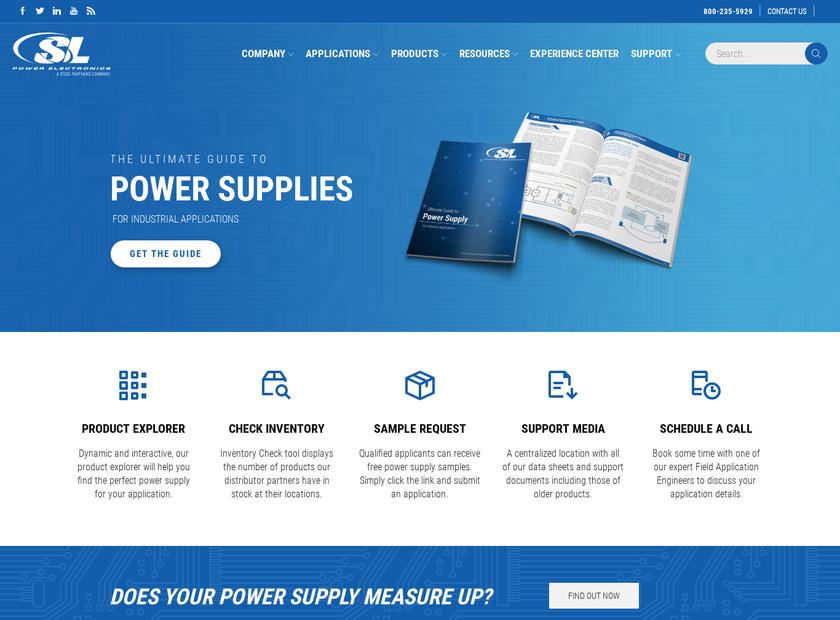 SL Power Electronics Corp. homepage screenshot