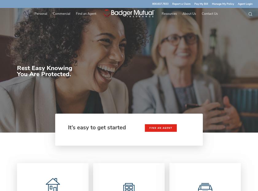 Badger Mutual Insurance Company homepage screenshot