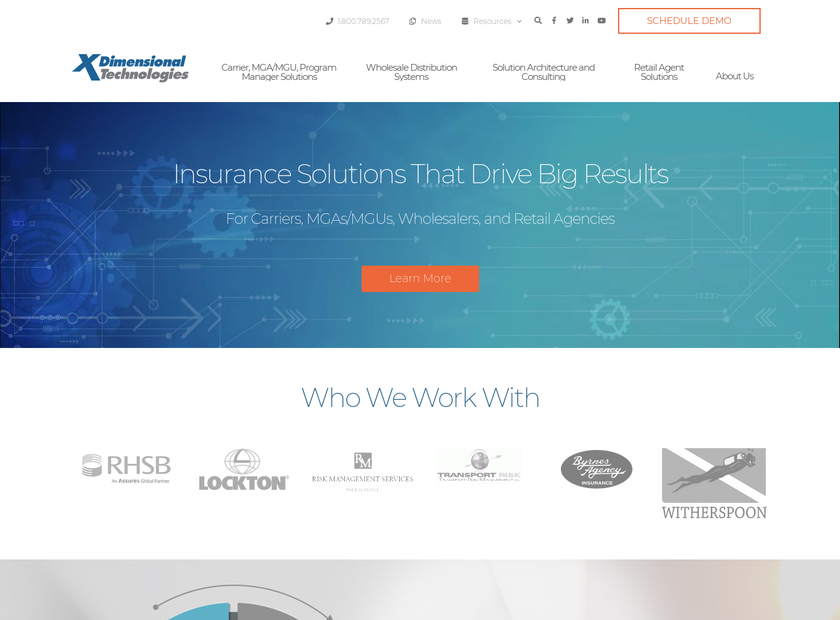 XDimensional Technologies Inc homepage screenshot