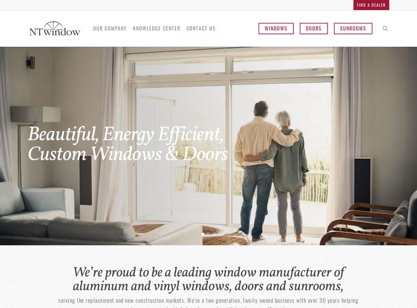 NT Window Inc homepage screenshot